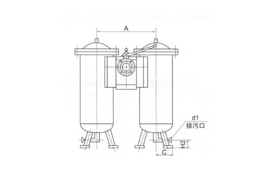 双筒网式磁芯过滤器SWCQ型