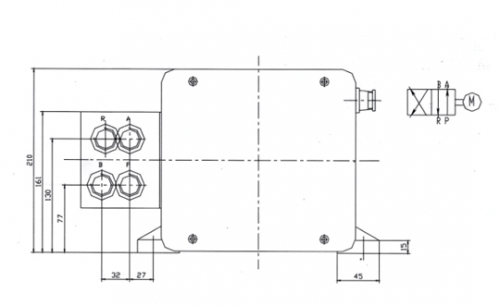 EM-U2型二位四通电动换向阀